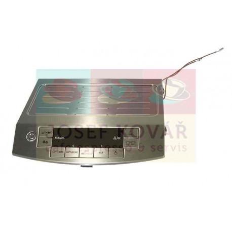 Kryt horní nerezový s displejem a elektronikou ECAM 26.455